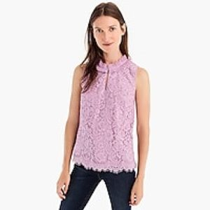 J. Crew Tops - 🔴 NWT J. Crew Lace Ruffle-Neck Top Lilac purple